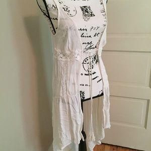 Xhilaration White Lace Tunic Dress Kimono Boho